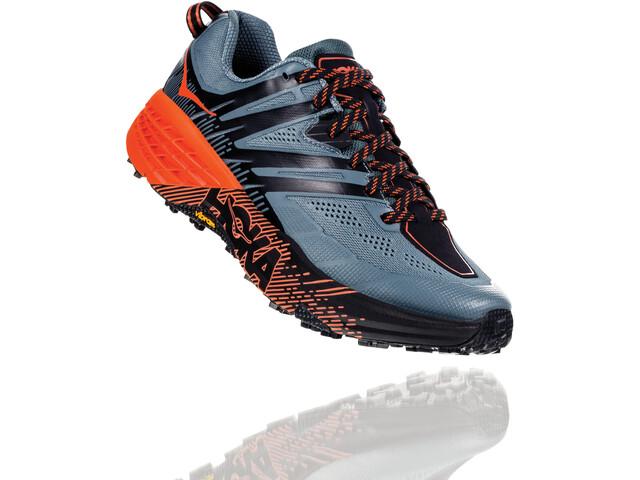 Hoka One One Speedgoat 3 Running Shoes Herren stormy weather/tangerine tango